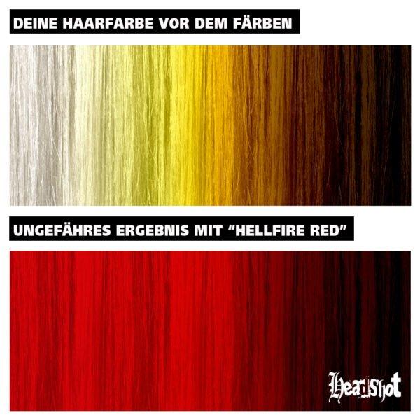 výsledky barvení polopermanentní barvou Hellfire red