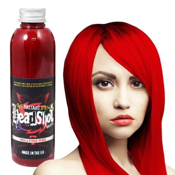 rubinově červená barva na vlasy hellfire red