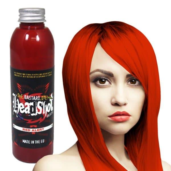 sytě červená barva na vlasy Red Alert