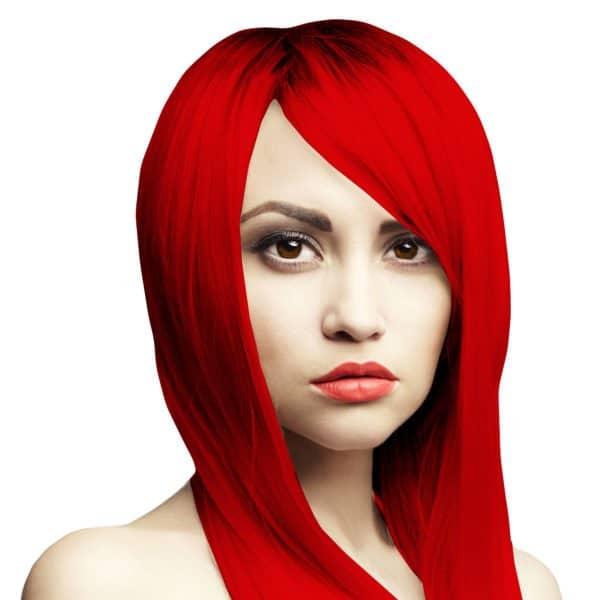 ohnivě červená barva na vlasy