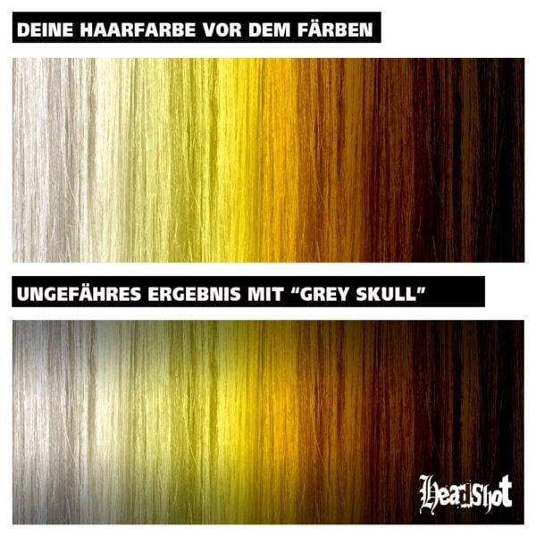 výsledek barvení vlasů na šedo