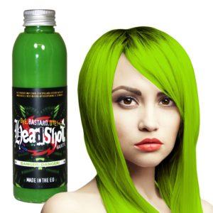 Neonově zelená barva na vlasy