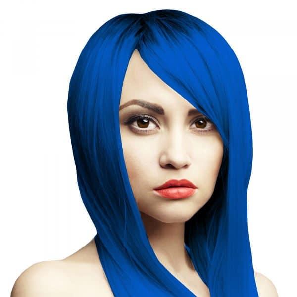 bluecifer headshot sytě modrá barva na vlasy