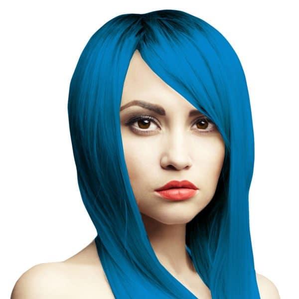 Desaster blue Headshot tmavě modrá barva na vlasy