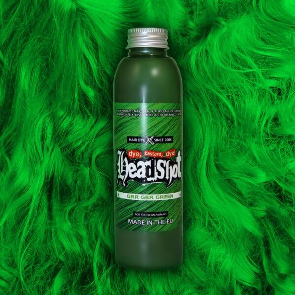 zelená barva na vlasy