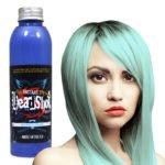 světle modrá barva na vlasy
