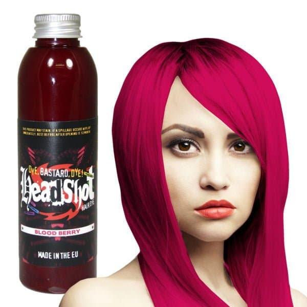malinová barva na vlasy