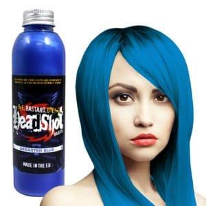 syté modrá barva na vlasy desaster blue
