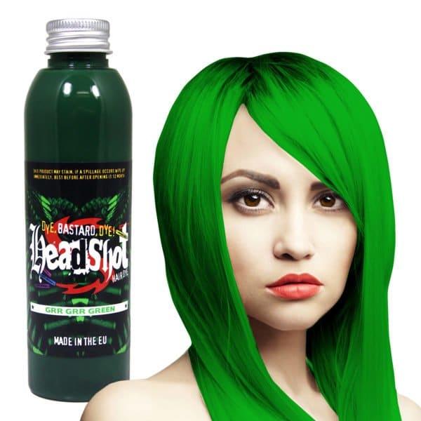 Světle zelená barva na vlasy Headshot