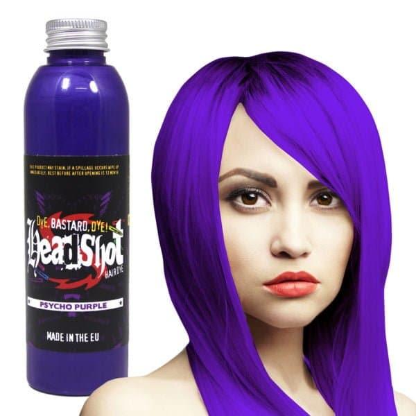 fialová barva na vlasy