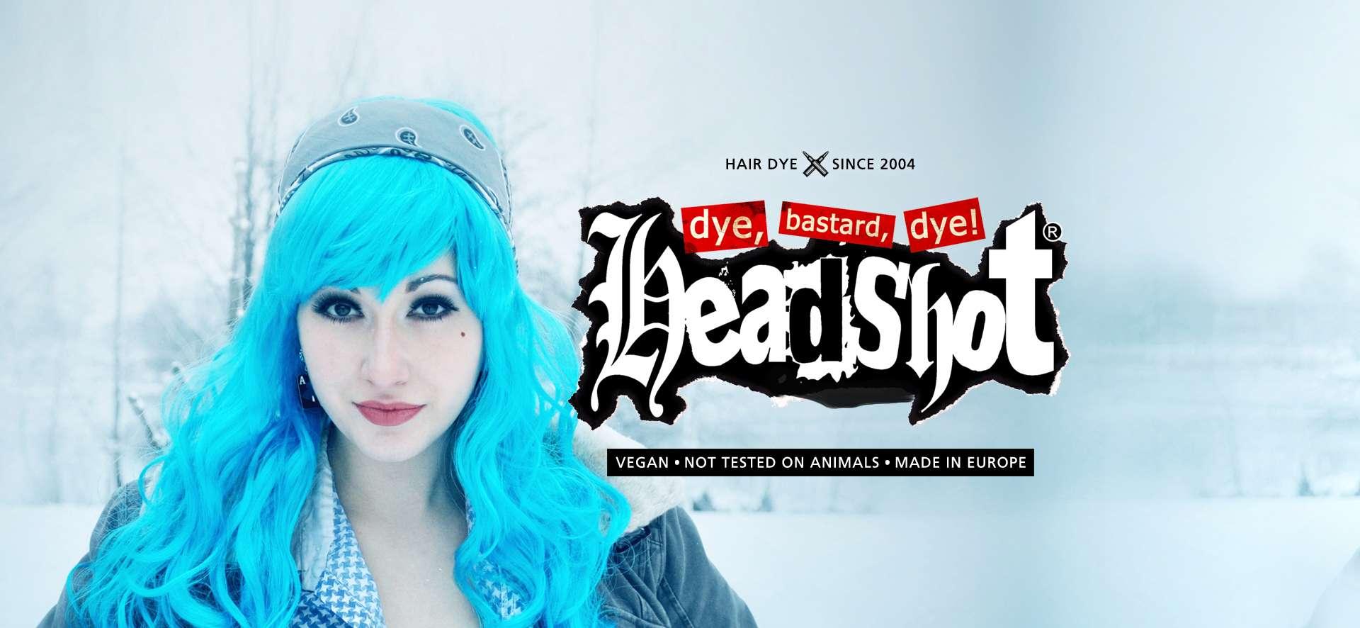 Světlé modrá barva na vlasy Headshot