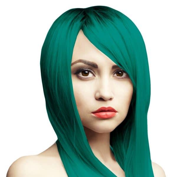 modrozelená barva na vlasy
