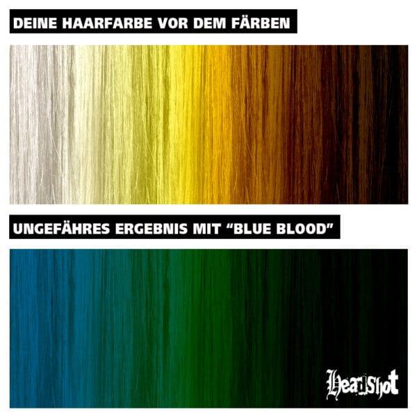 Modrá barva na tmavé vlasy