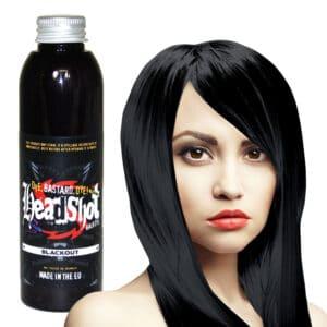 černá smývatelná barva na vlasy